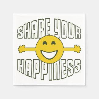 Comparta su felicidad servilletas desechables