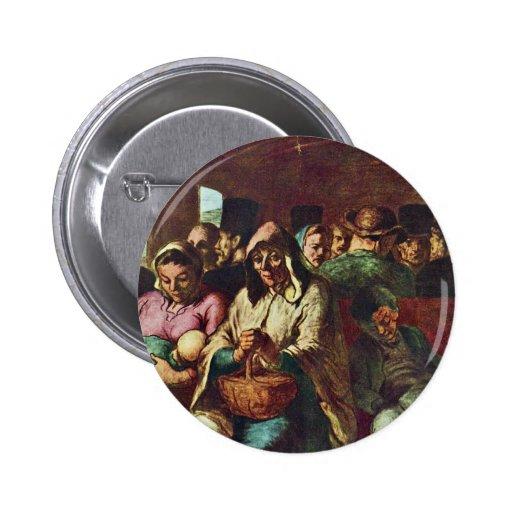 Compartimiento de tercera clase de Daumier Honoré Pin Redondo 5 Cm