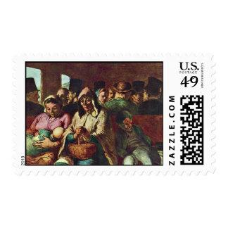 Compartimiento de tercera clase de Daumier Honoré Franqueo