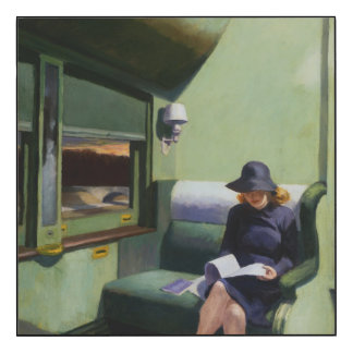 Compartment C, Car 293 by Edward Hopper Wood Print