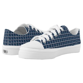compartment design in blue... Low-Top sneakers