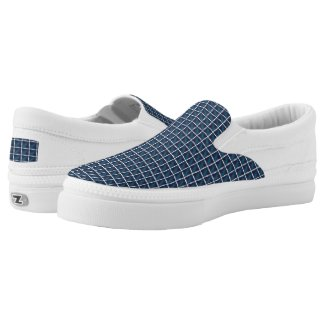 compartment design in blue... Slip-On sneakers