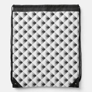 compartment design in Grey... Drawstring Bag