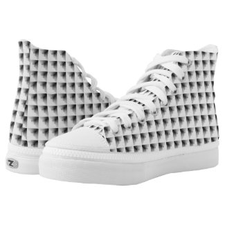 compartment design in Grey... High-Top Sneakers