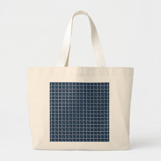 Compartment Design Rounded Blue Large Tote Bag