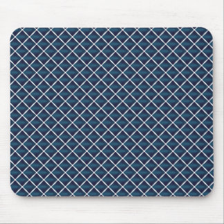 Compartment Design Rounded Blue Mouse Pad