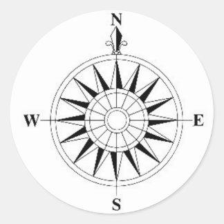 compas classic round sticker