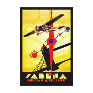 Compás del art déco de Sabena - M Impresión En Lienzo