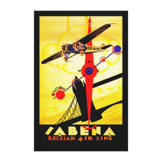 Compás del art déco de Sabena - XL Impresión En Lienzo