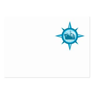 Compás del revestimiento marino del buque de carga tarjetas de visita grandes