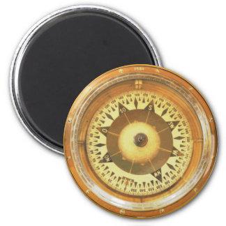 Compás del vintage imán redondo 5 cm