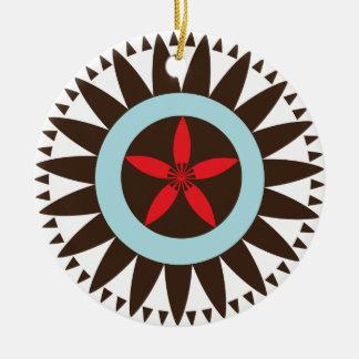 Compas Flower Ceramic Ornament