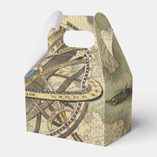 Compás y mapa náuticos del vintage caja para regalos