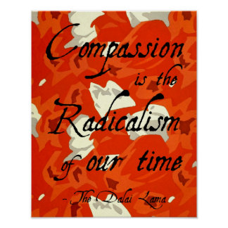 Compasión - cita inspirada de Dalai Lama Impresiones
