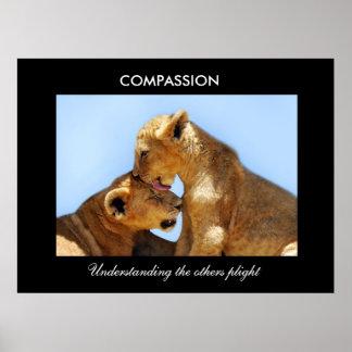 Compasión con los cachorros dejados huérfano impresiones