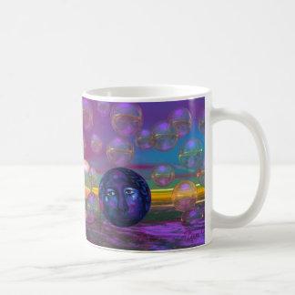 Compasión - conciencia de la violeta y del oro taza de café