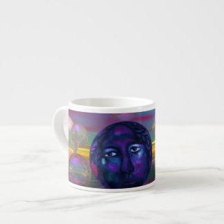 Compasión - conciencia de la violeta y del oro tazita espresso