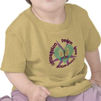 Compasión de la tolerancia del amor de la paz camisetas