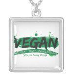 Compasión del amor de la paz del vegano collar