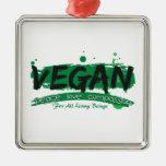 Compasión del amor de la paz del vegano ornamente de reyes