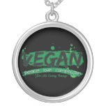 Compasión del amor de la paz del vegano pendientes