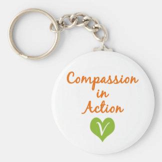Compasión en la acción llavero
