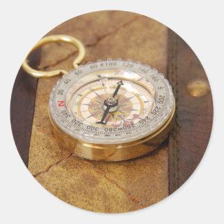 Compass040309 Pegatina Redonda