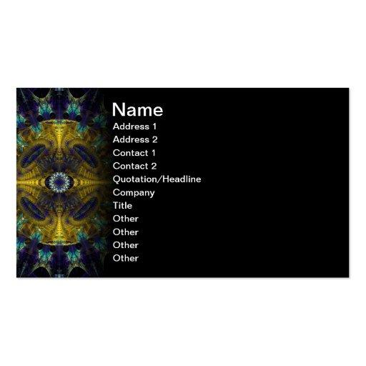 Compass Abstract Digital Fractal Business Card Template