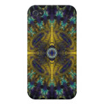 Compass Abstract Digital Fractal Case For iPhone 4