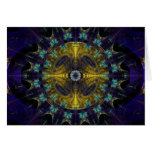 Compass Abstract Digital Fractal Greeting Cards