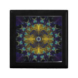 Compass Abstract Digital Fractal Trinket Box