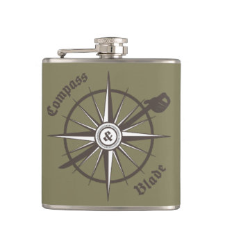Compass and Blade Flask