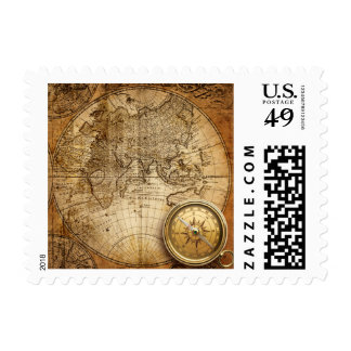 Compass and Map $0.49 (1st Class 1oz) Postage