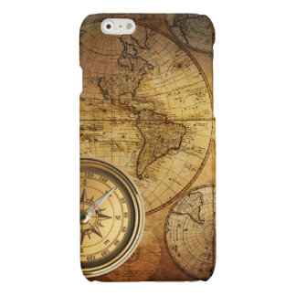 Compass and Map iPhone 6 Glossy Finish Case