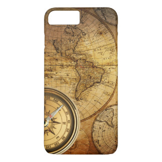 Compass and Map iPhone 7 Plus, Barely There iPhone 8 Plus/7 Plus Case