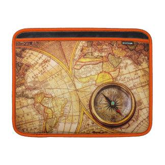 "Compass and Map Macbook Air 13"" Horizontal MacBook Air Sleeve"