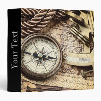 Compass and navigational Charts nautical Binder