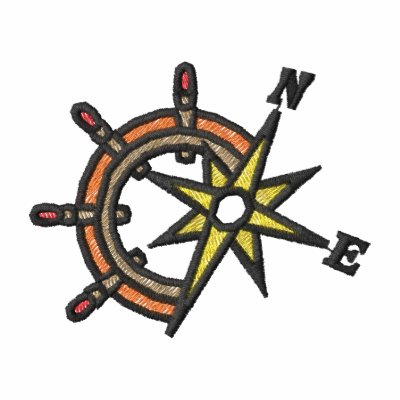 Compass and Ship's Wheel