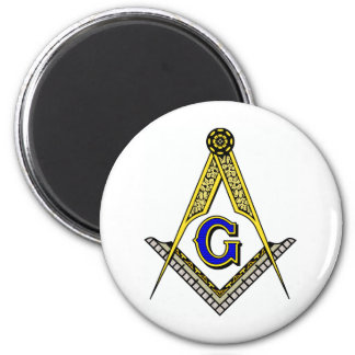 Compass and Square 2 Inch Round Magnet