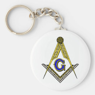 Compass and Square Key Chain