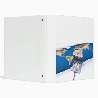 Compass and world map binder