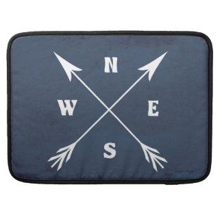 Compass arrows sleeve for MacBooks
