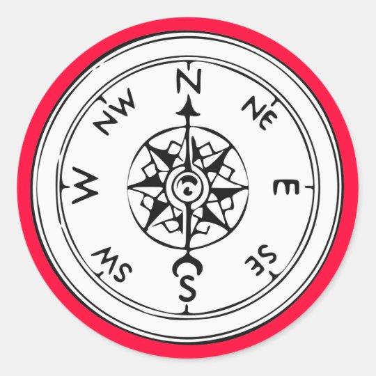 Compass Art Classic Round Sticker
