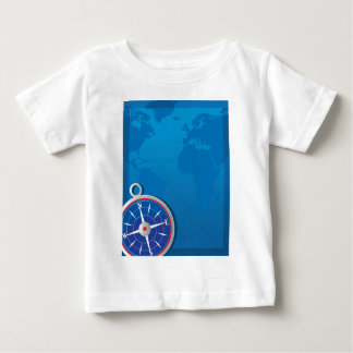 Compass Background Baby T-Shirt