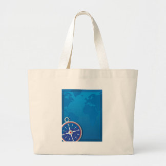 Compass Background Jumbo Tote Bag
