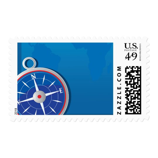 Compass Background Postage