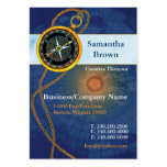 Compass Blue Professional Business Cards Chubby Business Cards