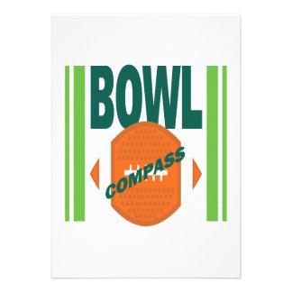 Compass Bowl Custom Invite