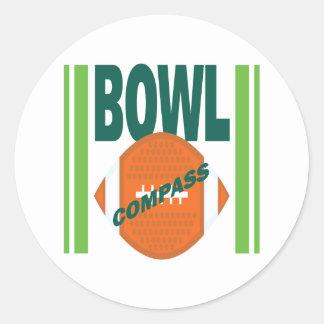 Compass Bowl Classic Round Sticker