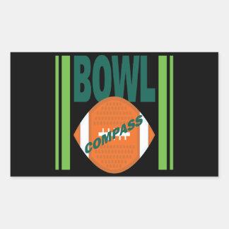 Compass Bowl Rectangular Sticker